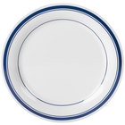 Carlisle 43003912 Mosaic Durus 10 1/2 inch London On White Narrow Rim Melamine Plate 12 / Case