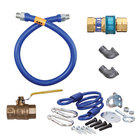 Dormont 1675KIT48 Deluxe SnapFast® 48 inch Gas Connector Kit with Two Elbows and Restraining Cable - 3/4 inch Diameter