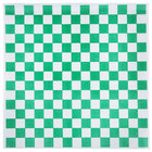 Choice 15 inch x 15 inch Green Check Deli Sandwich Wrap Paper - 1000 / Pack