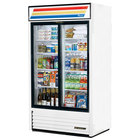 True GDM-37-LD White Refrigerated Sliding Glass Door Merchandiser with LED Lighting - 37 Cu. Ft.