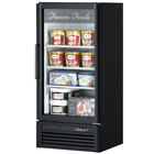 Turbo Air TGF-10SD Black 26 inch Super Deluxe Merchandiser Freezer - 9.3 Cu. Ft.