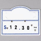 Deli Tag Wheel with Insert - Blue Checkered