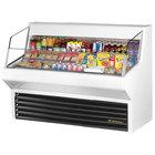True THAC-60 60 inch White Refrigerated Horizontal Air Curtain Merchandiser - 14.8 Cu. Ft.