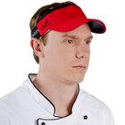 Red Headsweats Customizable 7703-203 CoolMax Chef Visor