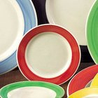 CAC R-3 RED Rainbow Pasta / Soup Bowl 12 oz. - Red - 24/Case
