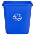 Continental 2818-1 28 Qt. Blue Recycling Wastebasket