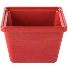 GET ML-148-RSP 28 oz. Red Sensation Square Crock - 12/Case