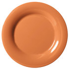 GET WP-6-PK Pumpkin Diamond Harvest 6 1/2 inch Wide Rim Plate - 48 / Case