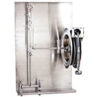 T&S B-1436 35' Open Stainless Steel Hose Reel Assembly with Backplate
