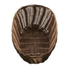 Tablecraft 1476 Brown Oval Rattan Basket 10 inch x 6 1/2 inch x 3 inch 12 / Pack
