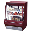 Turbo Air TCDD-48-2-H Red 48 inch Curved Glass Refrigerated Deli Case - 13.9 Cu. Ft.