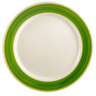 CAC R-7GRE Rainbow Plate 7 1/4 inch - Green - 36/Case