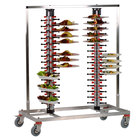 Plate Mate PM120-170 Twin Mobile Plate Rack Holds 120 Plates 57 1/2 inchH