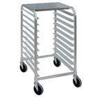 Cres Cor 275-38-1810-KDTA 10 Pan End Load Half Height Aluminum Bun / Sheet Pan Rack with Stainless Steel Top - Assembled