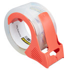 3M 3850-12-DP3 Scotch® 1 7/8 inch x 54.6 Yards Clear Heavy-Duty Shipping and Packaging Tape with Dispenser   - 12/Pack