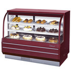 Turbo Air TCGB-60-DR Red 60 1/2 inch Curved Glass Dry Bakery Display Case - 18.7 Cu. Ft.