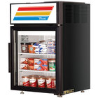 True GDM-5F-LD Black Countertop Display Freezer with Swing Door - 5 cu. ft.