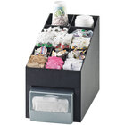 Cal-Mil 2042 Classic Black Cup / Lid / Condiment Organizer with Napkin Dispenser Slot - 10