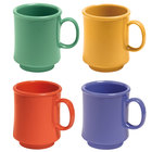 GET TM-1308-MIX Diamond Mardi Gras 8 oz. Tritan Stacking Mug, Assorted Colors - 24/Case
