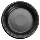 Dart Solo 6PBQR Quiet Classic 6 inch Black Laminated Round Foam Plate - 125/Pack