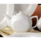 CAC RSV-TP Roosevelt 15 oz. Super White Porcelain Tea Pot with Lid - 36 / Case