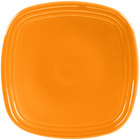 Homer Laughlin 921325 Fiesta Tangerine 7 1/2 inch Square Salad Plate - 12/Case
