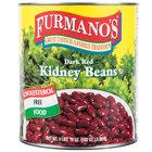Furmano's #10 Can Kidney Beans (Dark Red - in Brine) - 6/Case