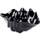 5 Qt. Black Shell Shaped Plastic Bowl 19 inch x 12 7/8 inch