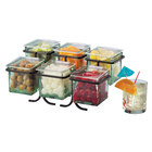 Cal Mil 1809-13 2 Tier 6 Jar Black Display with Glass Jars - 14 inch x 9 inch x 7 inch