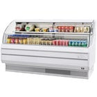 Turbo Air TOM-75L White 75 inch Low Profile Horizontal Air Curtain Display Case - 17.7 Cu. Ft.