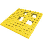 Cactus Mat 2554-YC Dri-Dek 2 inch x 2 inch Yellow Vinyl Interlocking Drainage Floor Tile Corner Piece - 9/16 inch Thick