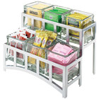 Cal-Mil 1723-39 Mission Two Tier Silver Steel Six Jar Display - 14