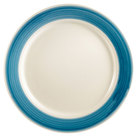 CAC R-16 BLUE Rainbow Dinner Plate 10 1/2 inch - Blue - 12/Case
