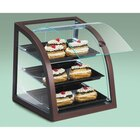 Cal Mil P255-52S Self Serve Bakery Display Case Euro Style Curved Front with Wood Frame 17 inch x 17 inchx 18 inch