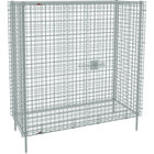 Metro SEC56C Chrome Stationary Wire Security Cabinet 62 1/2 inch x 27 1/4 inch x 66 13/16 inch