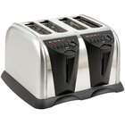 West Bend 4 Slice Stainless Steel Commercial Pop-Up Toaster