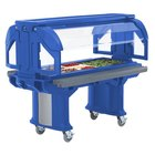Cambro VBRLHD6186 Navy Blue 6' Versa Food / Salad Bar with Heavy Duty Casters - Low Height
