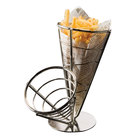 American Metalcraft SS22 Stainless Steel 2-Cone Basket - 10 1/2 inch x 9 1/2 inch