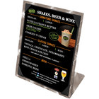 Menu Solutions MTPIX-811 Aluminum Menu Tent with Picture Corners - Swirl Finish - 8 1/2