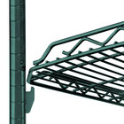 Metro HDM2136Q-DHG qwikSLOT Drop Mat Hunter Green Wire Shelf - 21 inch x 36 inch