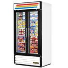True GDM-35F-LD White Glass Swing Door Merchandiser Freezer with LED Lighting - 35 Cu. Ft.