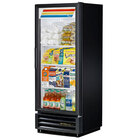 True GDM-12-LD Black Refrigerated Glass Door Merchandiser with LED Lighting - 12 Cu. Ft.