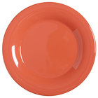 GET WP-7-RO Diamond Mardi Gras 7 1/2 inch Rio Orange Wide Rim Round Melamine Plate - 48/Case