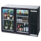 Beverage Air BB48GSY-1-SS-PT-LED-WINE 48 inch Black Back Bar Wine Series Refrigerator - Narrow Depth, Pass-Through Glass Doors