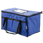 Choice 23 inch x 13 inch x 15 inch Blue Insulated Nylon Food Delivery Bag / Pan Carrier