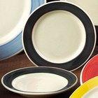 CAC R-115-BK Rainbow Pasta Bowl 24 oz. - Black - 12/Case