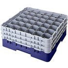 Cambro 36S1114186 Navy Blue Camrack 36 Compartment 11 3/4 inch Glass Rack