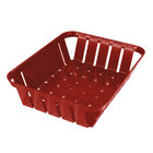 Carlisle 4403105 Stackable Red Munchie Basket 10 3/8 inch x 8 inch 12 / Case