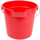 Continental 8110RD Huskee 10 Qt. Red Round Utility Bucket