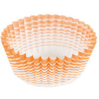 Ateco 6406 1 inch x 3/4 inch Orange Striped Baking Cups (August Thomsen) - 200 / Box